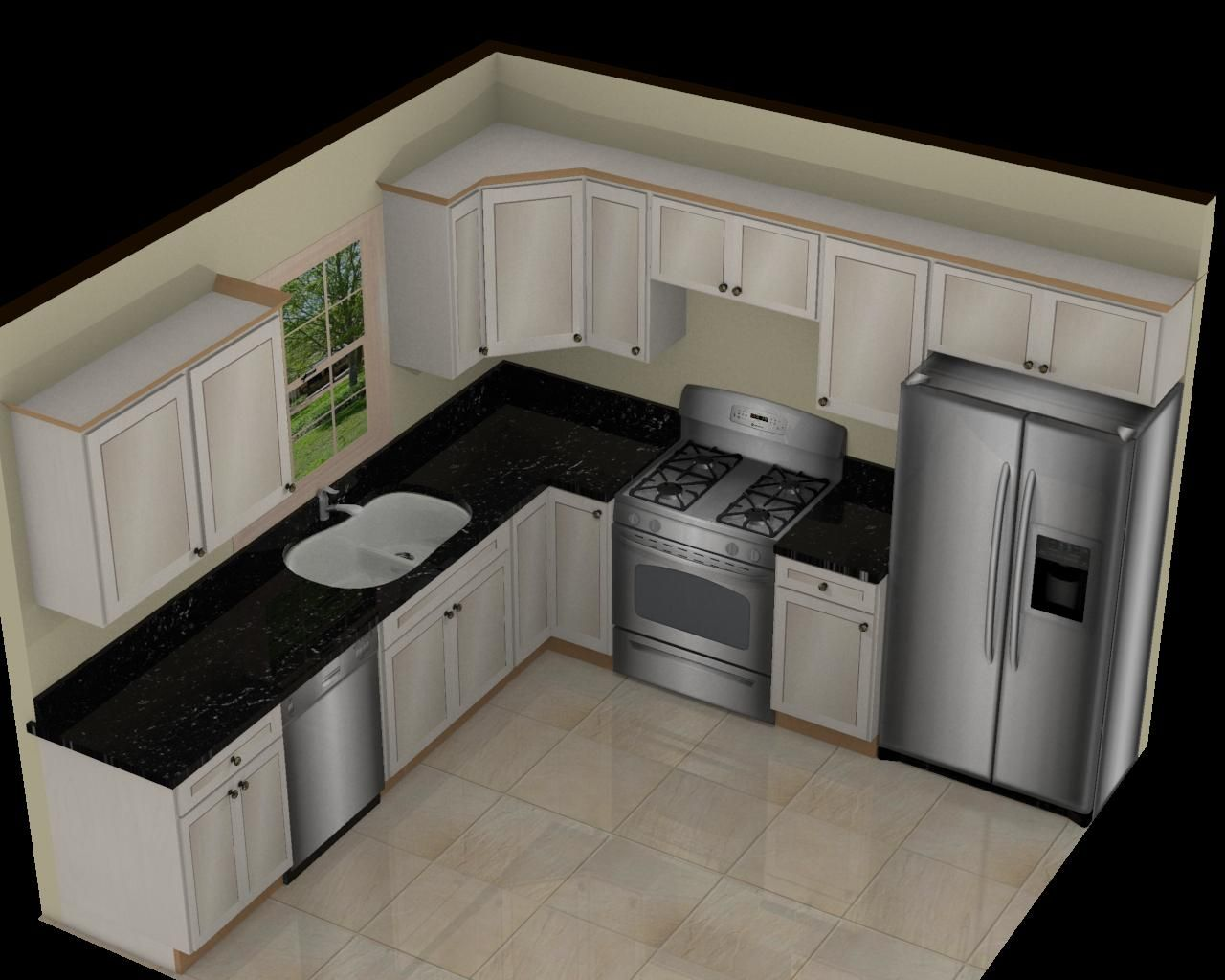 Small Kitchen Design Layout Ideas kitchen awesome l shape white marble 10x10 3d kitchen plan with single window and Find This Pin And More On Kitchen 10 10 L Shaped Kitchen Designs