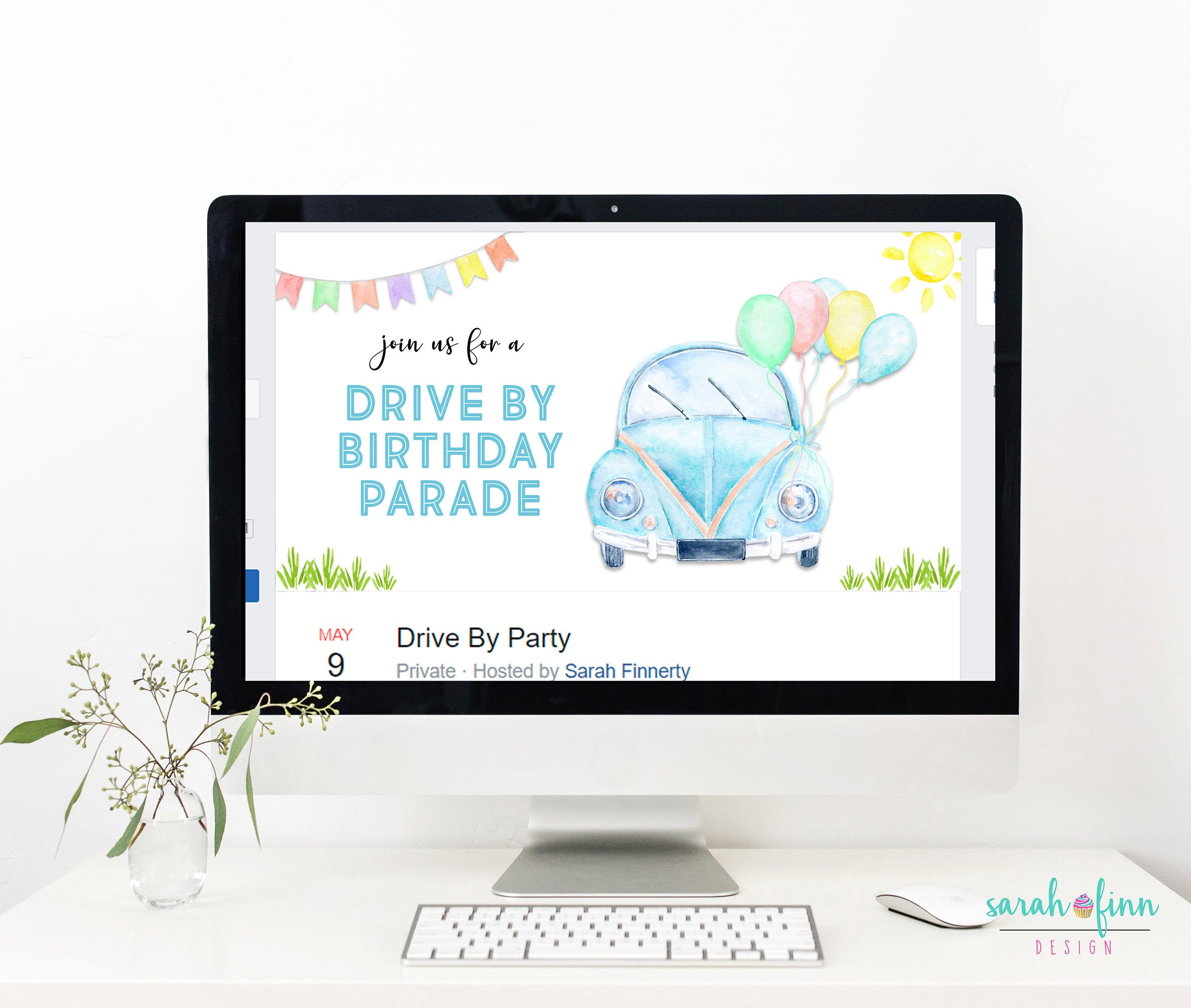 Drive By Birthday Parade Facebook Event Cover Facebook
