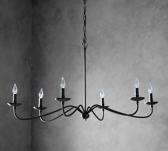 Lucca Black Iron Chandelier Pottery Barn Chandelier