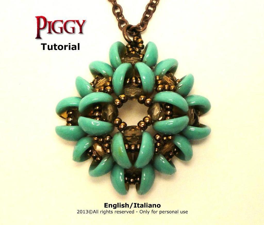 Tutorial Piggy Pendant | Pendants, Tutorials and Beads