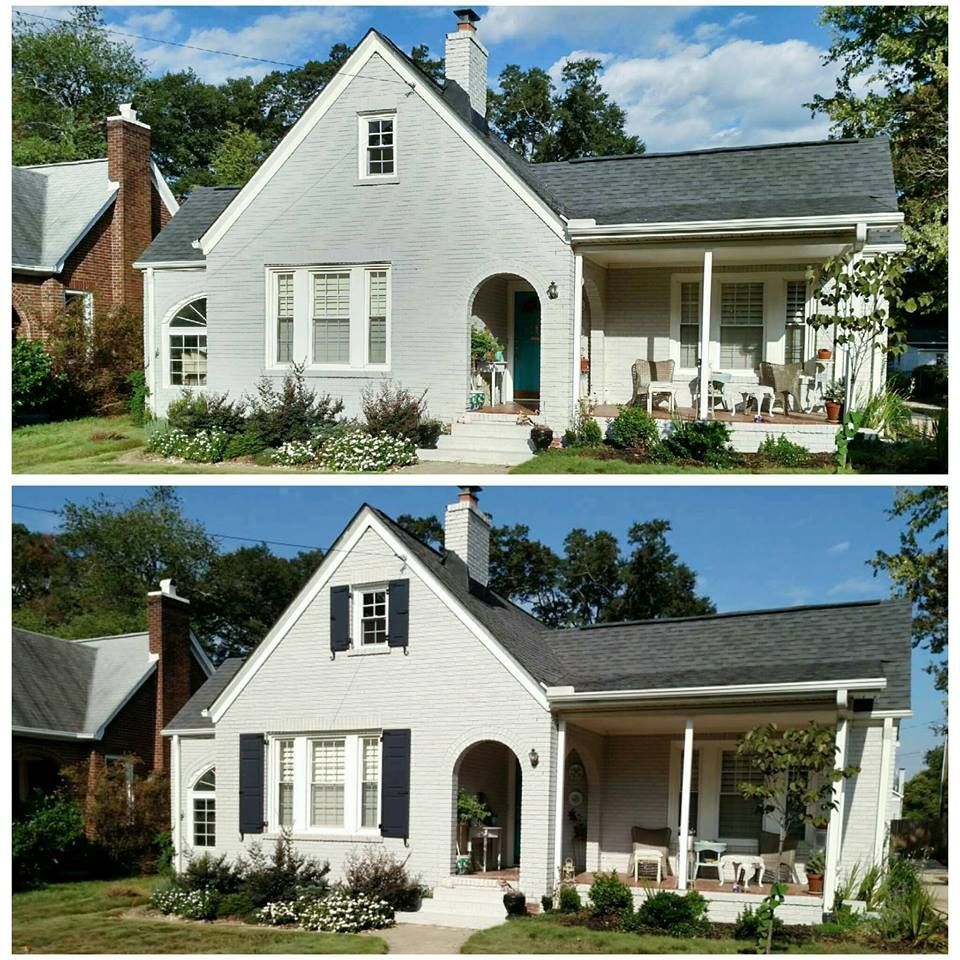 Raised Panel Exterior Shutters Before And After (With