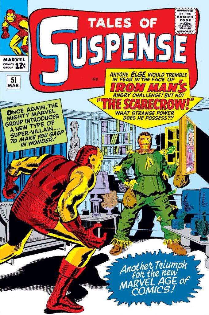 Did you know? Also Marvel Comics got it's own Scarecrow villain in it's past ages! The debut was set against Iron Man (1964 - Tales of Suspense #51)