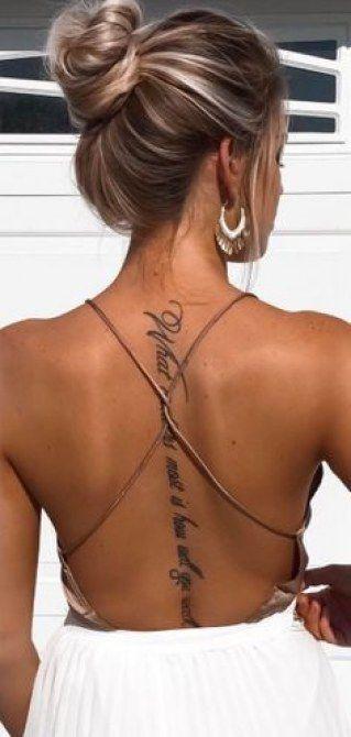 Photo of De belles idées de tatouages pour habiller sa colonne vertéb…