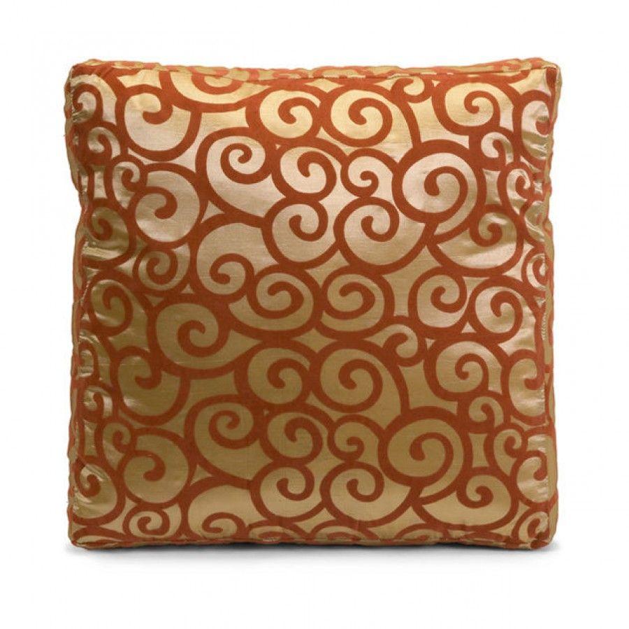 IMAX Harbin Square Box Pillow in Golden and Deep Auburn - 42071