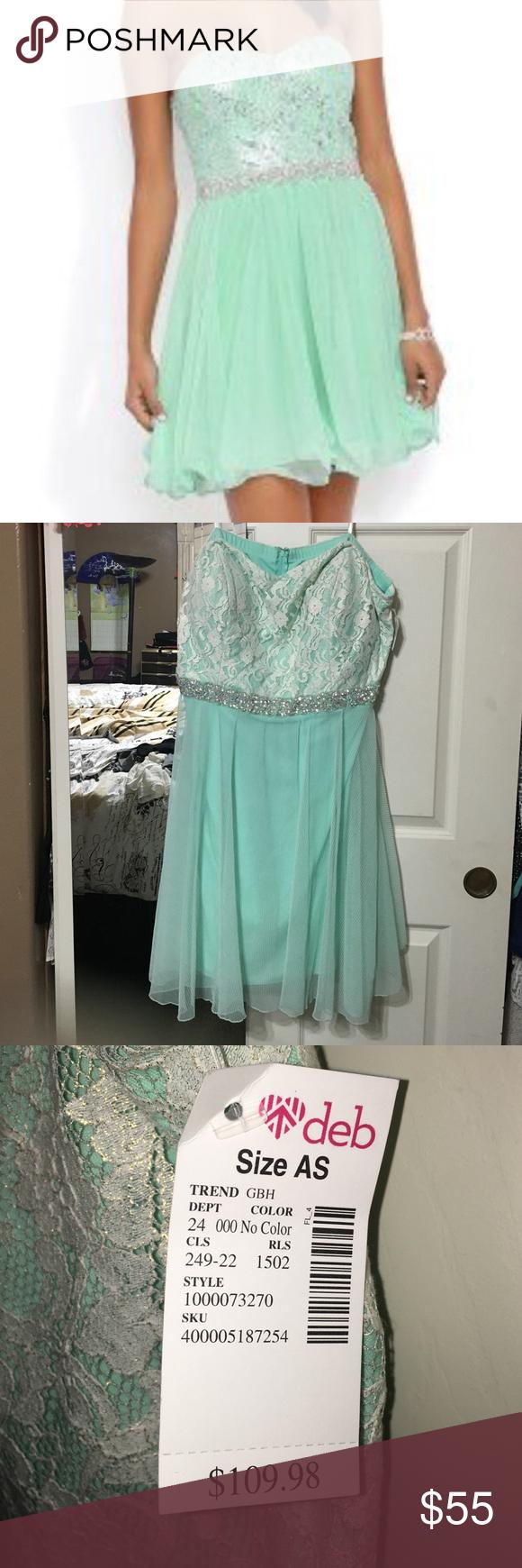 Deb Mint prom dress | Mint prom dresses, Strapless prom dresses and ...