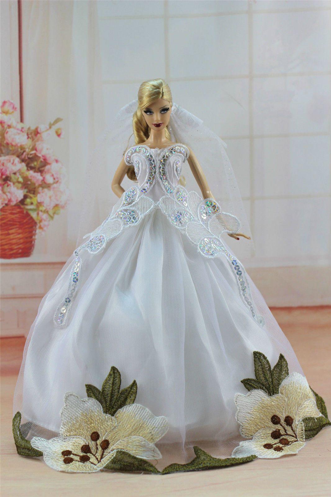3.89 GBP - White Fashion Princess Dress Wedding Clothes/Gown +Veil ...