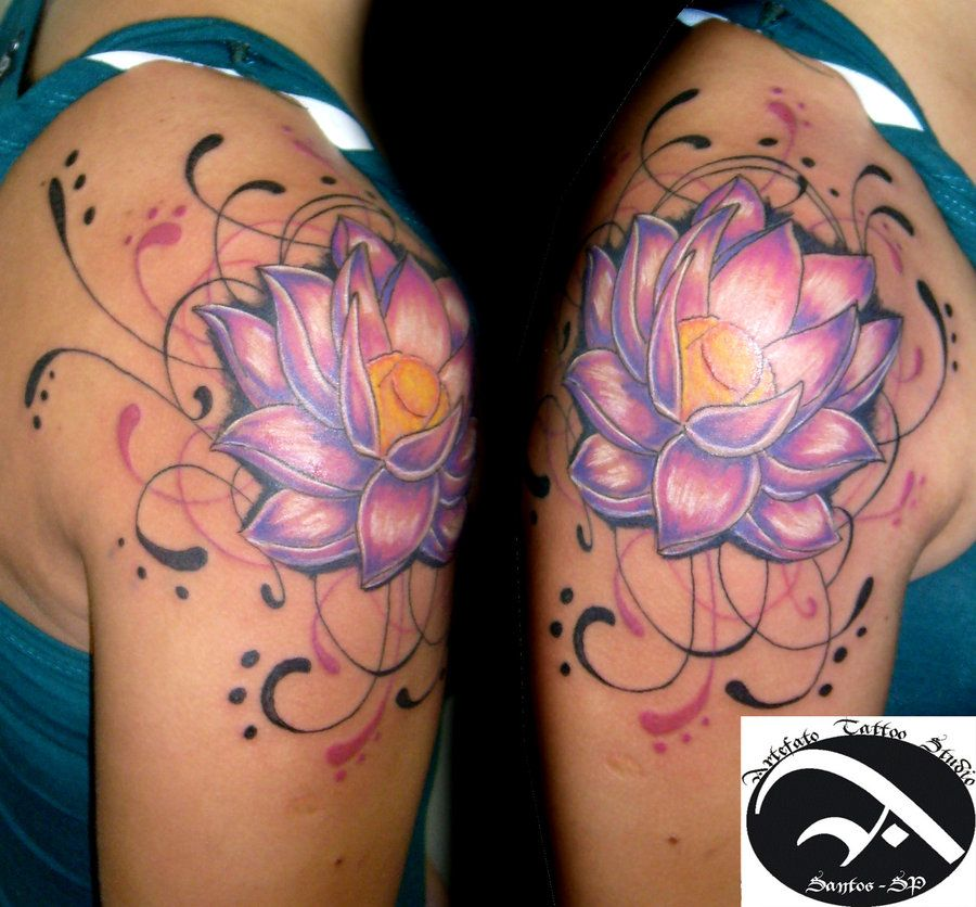fabulous lotus tattoo on shoulder tatoo pinterest. Black Bedroom Furniture Sets. Home Design Ideas