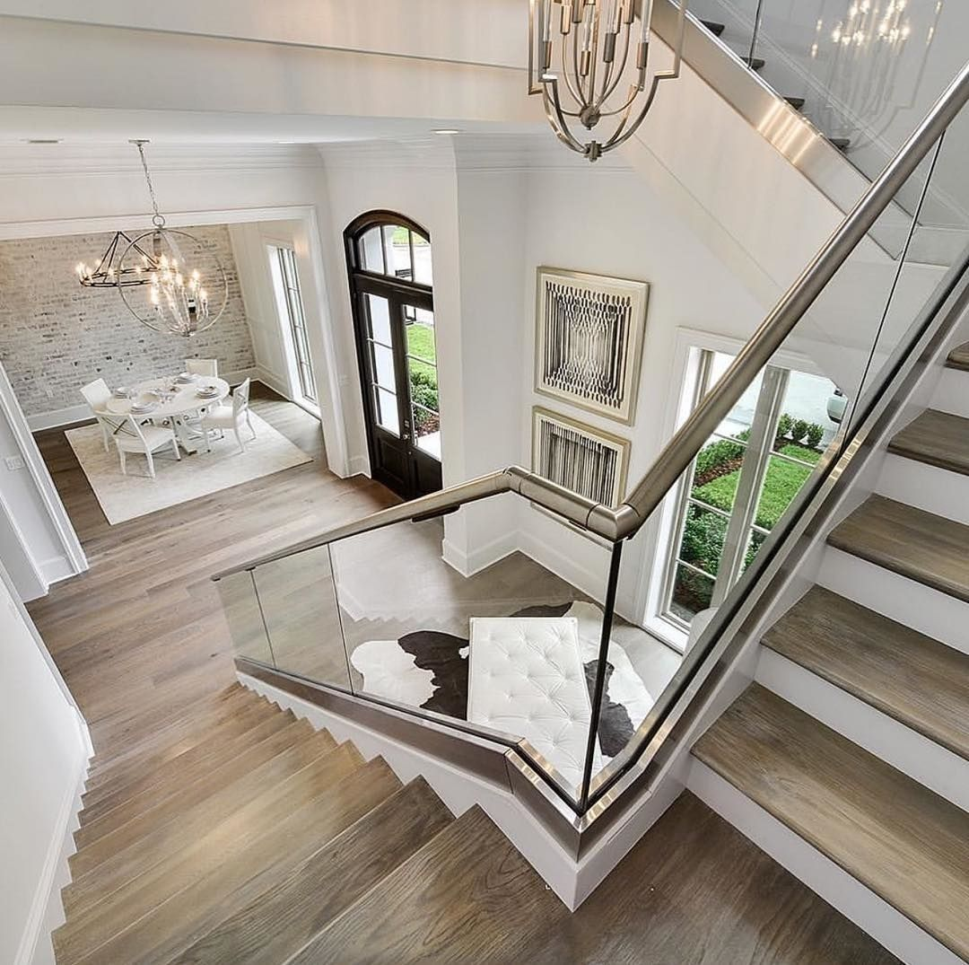 New The 10 Best Home Decor With Pictures Wanna Go Upstairs To Check Out More Of This House Save For Later Follow Intderooms For More Glass Staircase