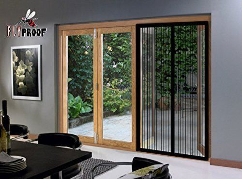 Magnetic Screen Door For French Patio Doors   Middle Opening Premium  Quality Mesh Curtain   80