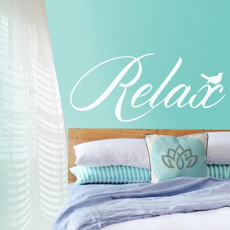 Vinilo decorativo relax ideas decoraci n con frases y - Vinilos con textos ...