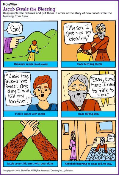 Jacob's Steals the Blessing (Activity)- Kids Korner - BibleWise