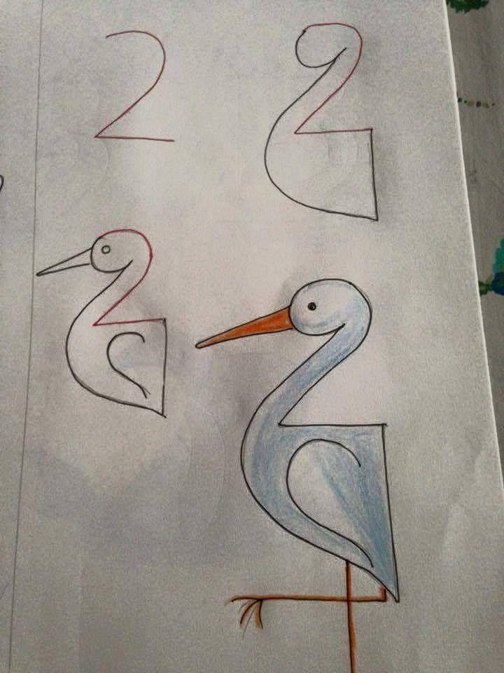 Apprendre dessiner avec des chiffres dessins pinterest chiffre dessiner et dessin - Apprendre a dessiner pour enfant ...