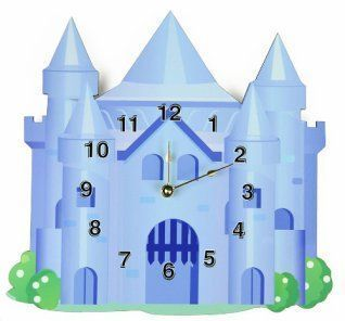 rikki knight blue castle wall clock proudly made in the usa measures x x professional print onto clock face no decals - Blue Castle Decor