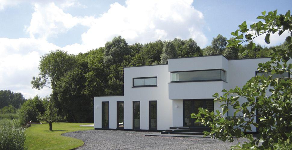 Moderne woning bouwen selekthuis vertaalt uw wensen nieuwbouw pinterest nieuwbouw - Moderne uitbreiding huis ...