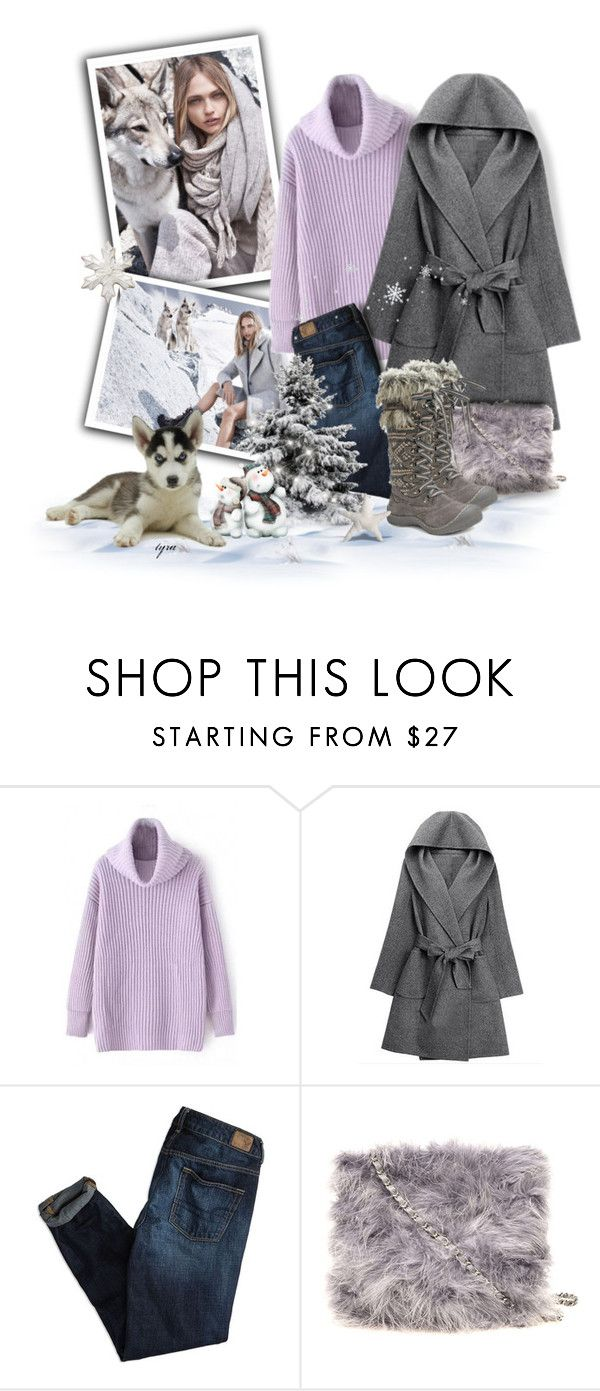 """Snow Day"" by oregonelegance ❤ liked on Polyvore featuring MANGO, American Eagle Outfitters, Dorothy Perkins, Muk Luks and bhalo"