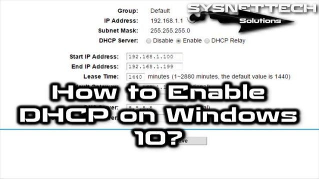 How to Configure DHCP on Windows 10 / 8 / 7 | DHCP Configuration