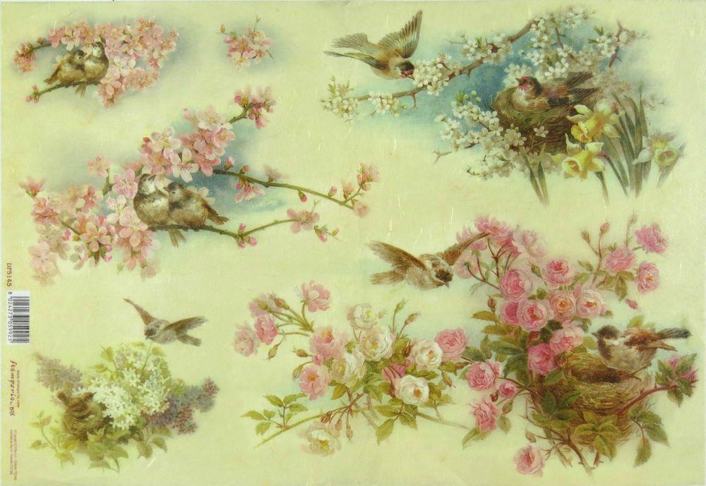 Ricepaper/Decoupage paper,Scrapbooking Sheets/Craft Paper Vintage Peach Blossoms