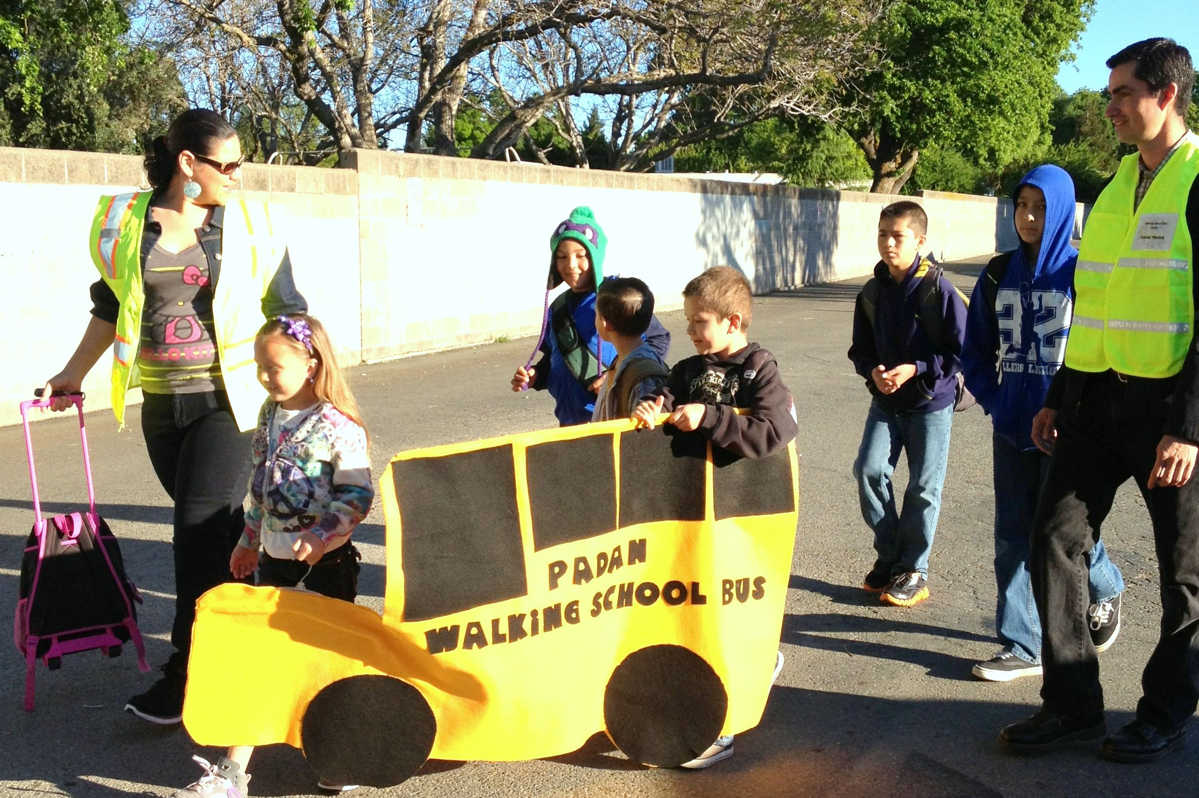 Walking School Bus from Solano Transportation Authority