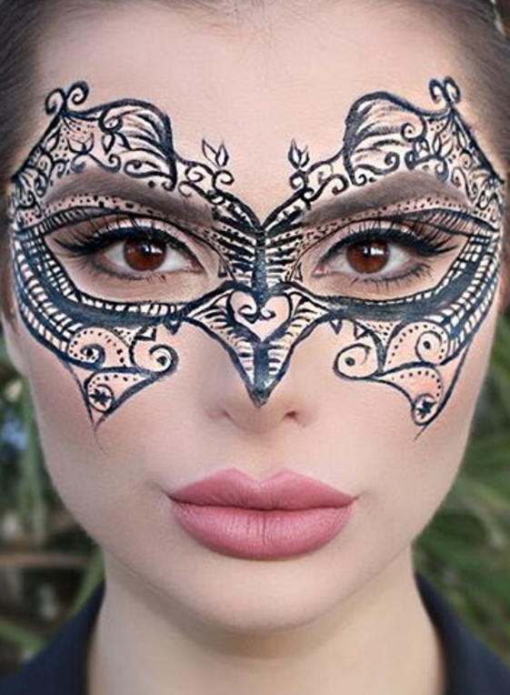 5 easy Halloween makeup ideas you can do using ONLY eyeliner ...