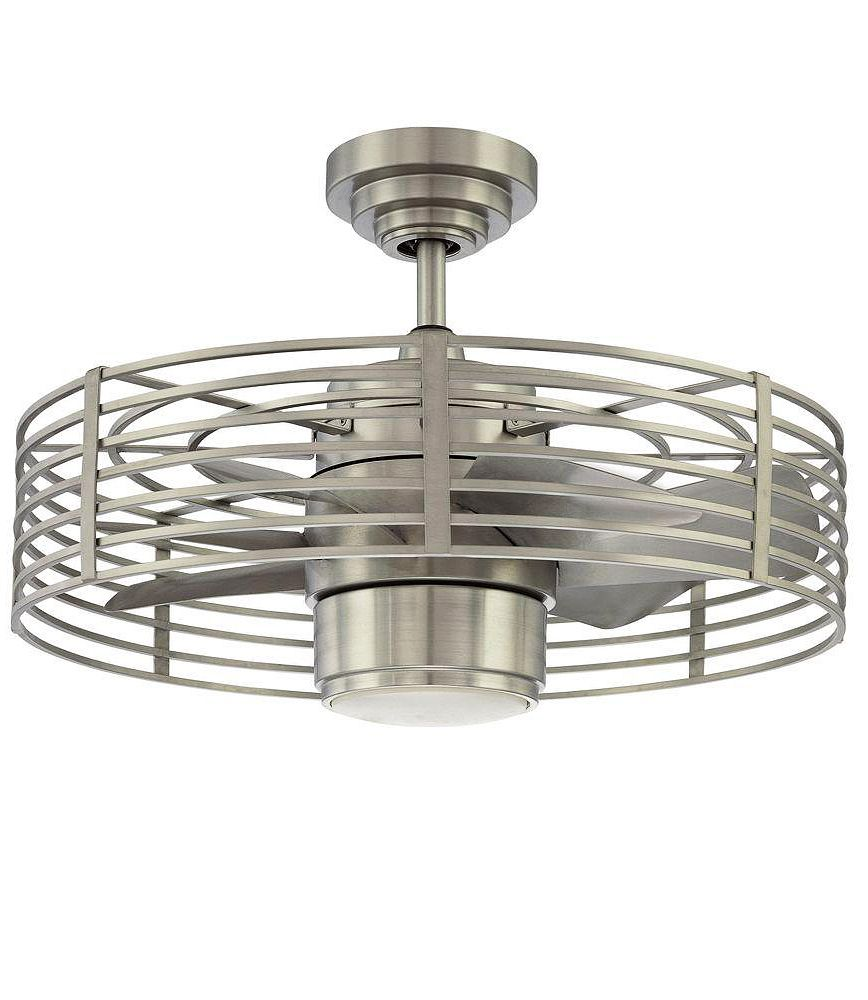 This Space Saving Ceiling Fan Is Ideal For Smaller Rooms It Looks Terrific Too With Its Industrial Chic Design And Nickel Finish Comes A Remote