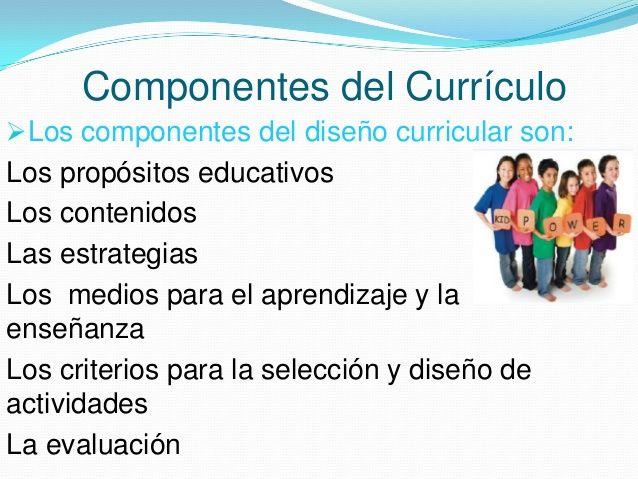 Componentes del dise o curricular buscar con google for Diseno curricular nacional 2016 pdf