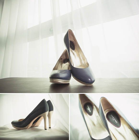 Add a black pair of heels to your black and white wedding
