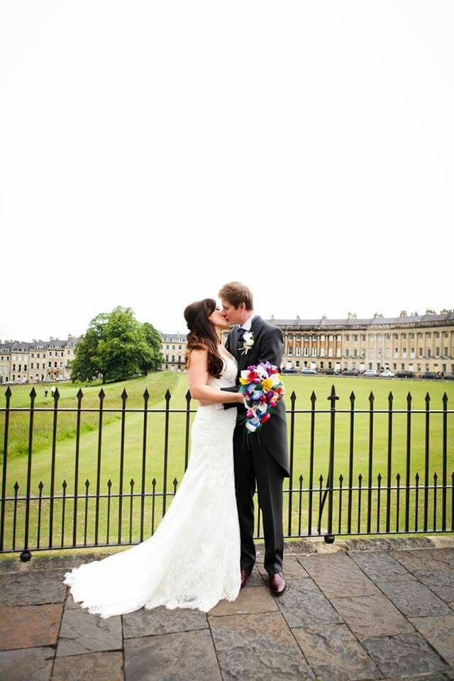 My wonderful wedding #Bath #royalcrescent #wedding