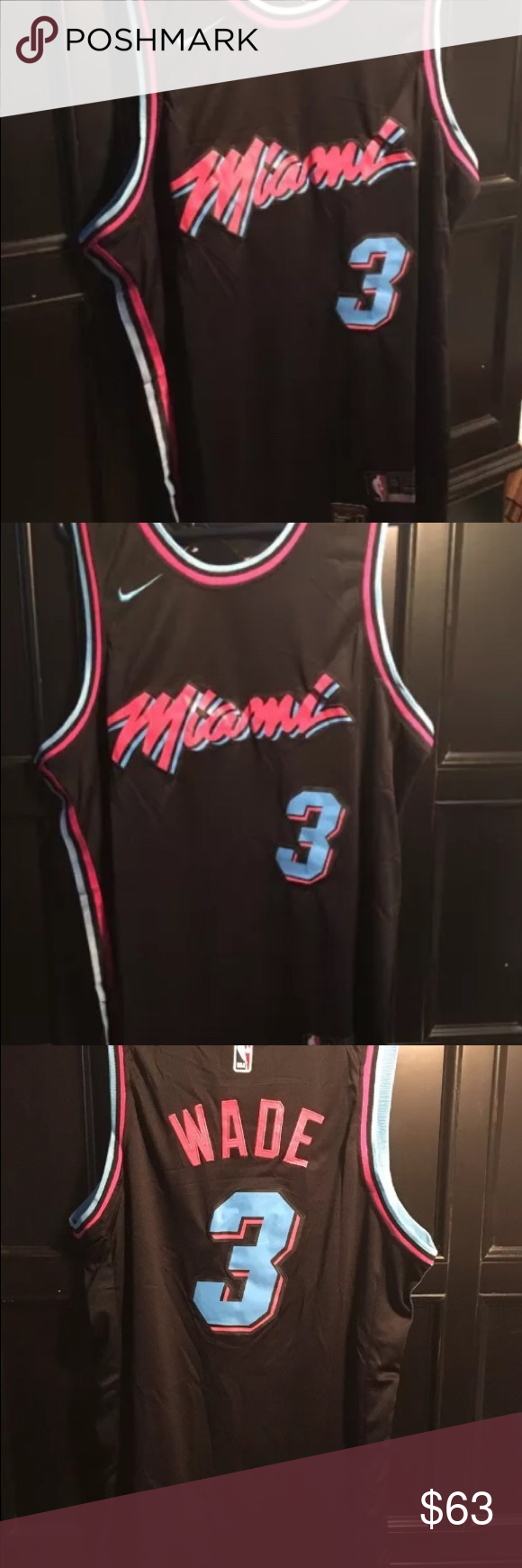 Miami Heat Black Vice City Jersey. Stitched. Large Mens Large Miami Vice City  Jersey. Dwyane Wade Miami Vice City Jersey.  3 City Edition ships same or  next ... 88ca7ffa8