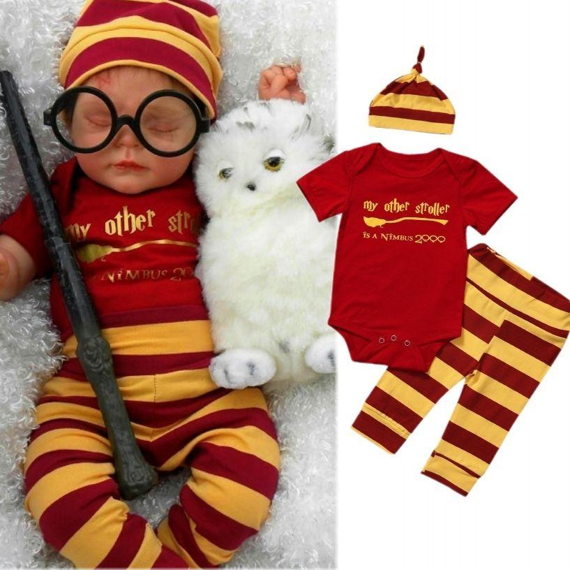 ea9abbbe7 $5.09 - Newborn Baby Boys Striped Clothes Cotton Romper Harem Pants Hat  Outfits Monhyu #ebay #Fashion. Harry Potter ...