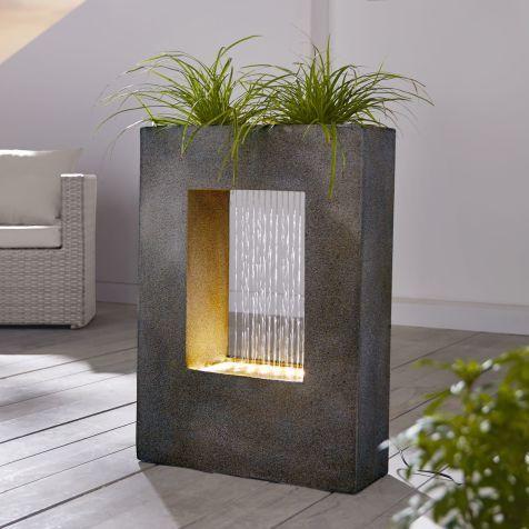 gartenbrunnen modernes design gartenbrunnen, window, bepflanzbar katalogbild | taman mini