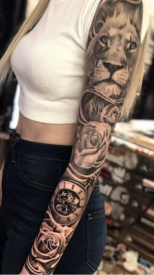20 Tatuagens Femininas de Braço fechado incríveis | Eu amo tatuagens
