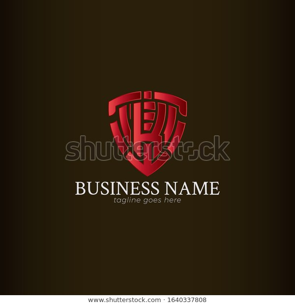Red Shield Logo Template Letter K Stock Vector Royalty Free 1640337808