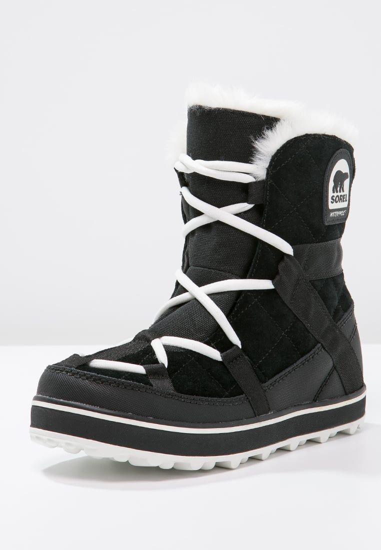 Sorel GLACY EXPLORER SHORTIE - Lace-up boots - black ktYJVU0V