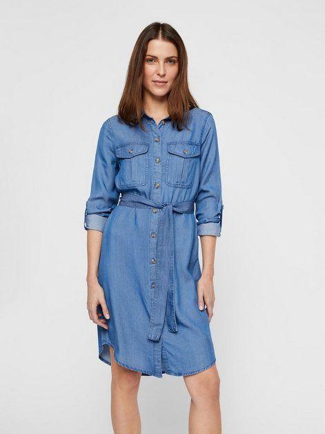 Photo of Vero Moda Langärmeliges Hemd Kleid, Hoher Ausschnitt mit Kragen online kaufen | OTTO