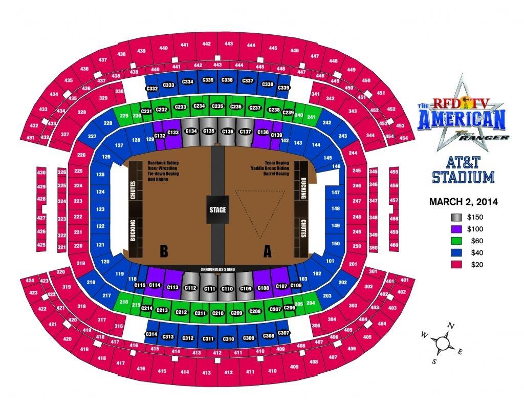 Seating Chart At T Stadium Arlington Tx Di 2020 Konser