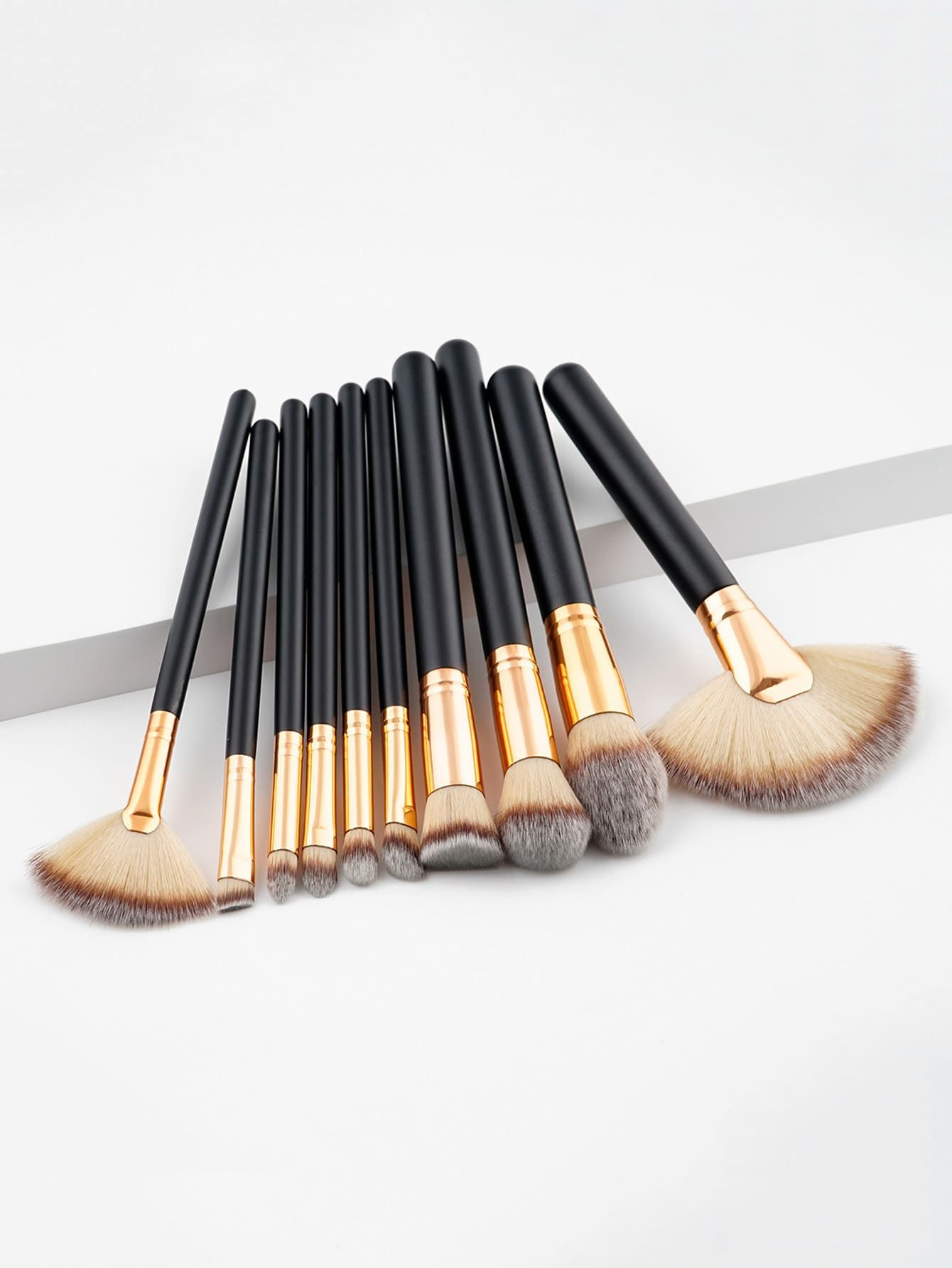 Two Tone Handle Makeup Brush Set 10pcs Makeup brush set