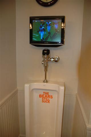 Watching The Packers While You Use The Urinal Man Cave Go Packers Urinal
