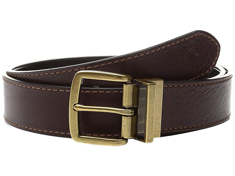 Polo Ralph Lauren Veg Tan1 12 Reversible BrownBlack Mens Belts A handsome accessory for dressy looks this refined leather belt goes from brown to black with a turn of its...