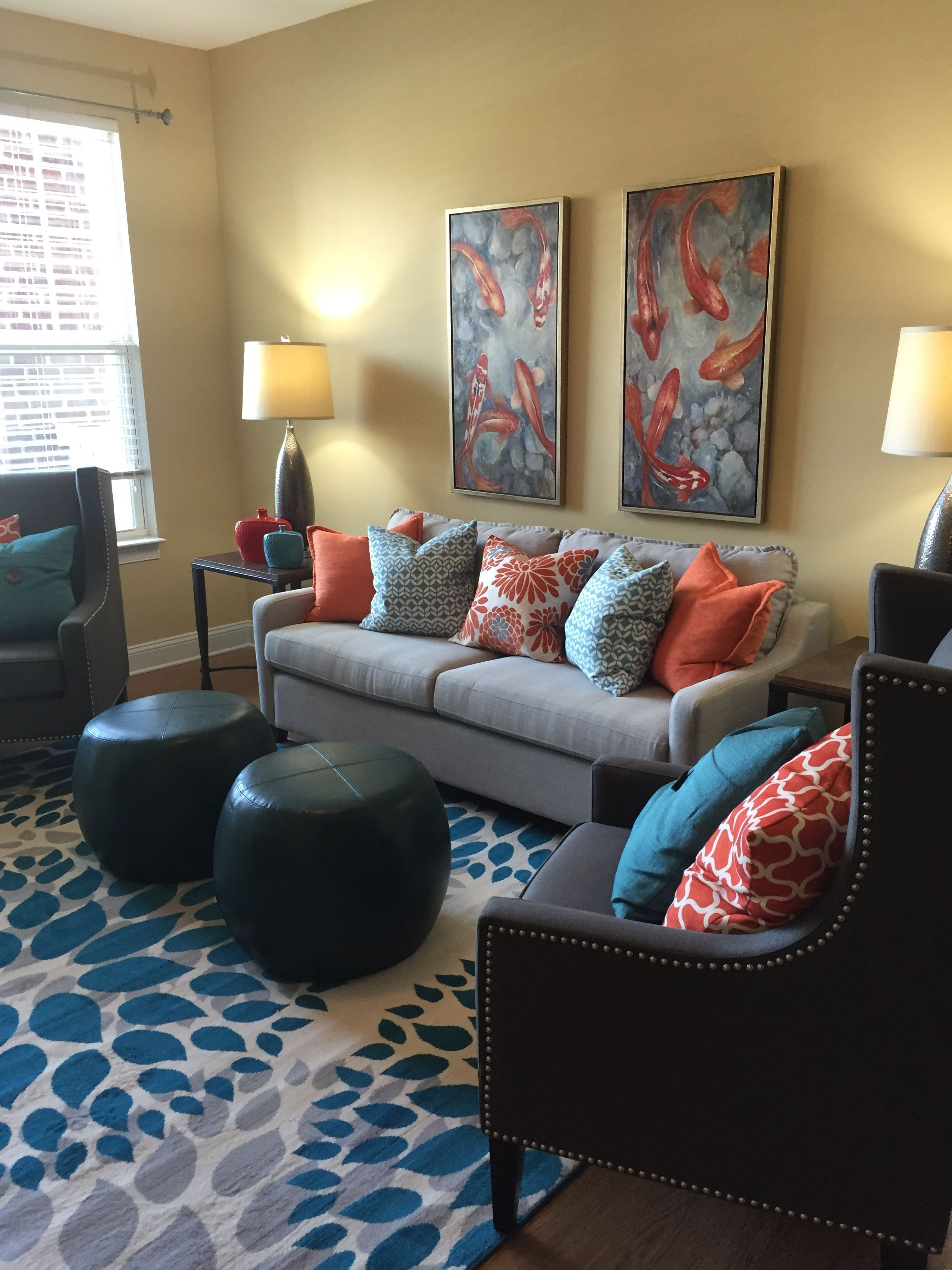 Living Area In Gateway Model Apartment Done By Interior Designer Ginny Ezell Of Regeneration Interiors Spartanburg Sc