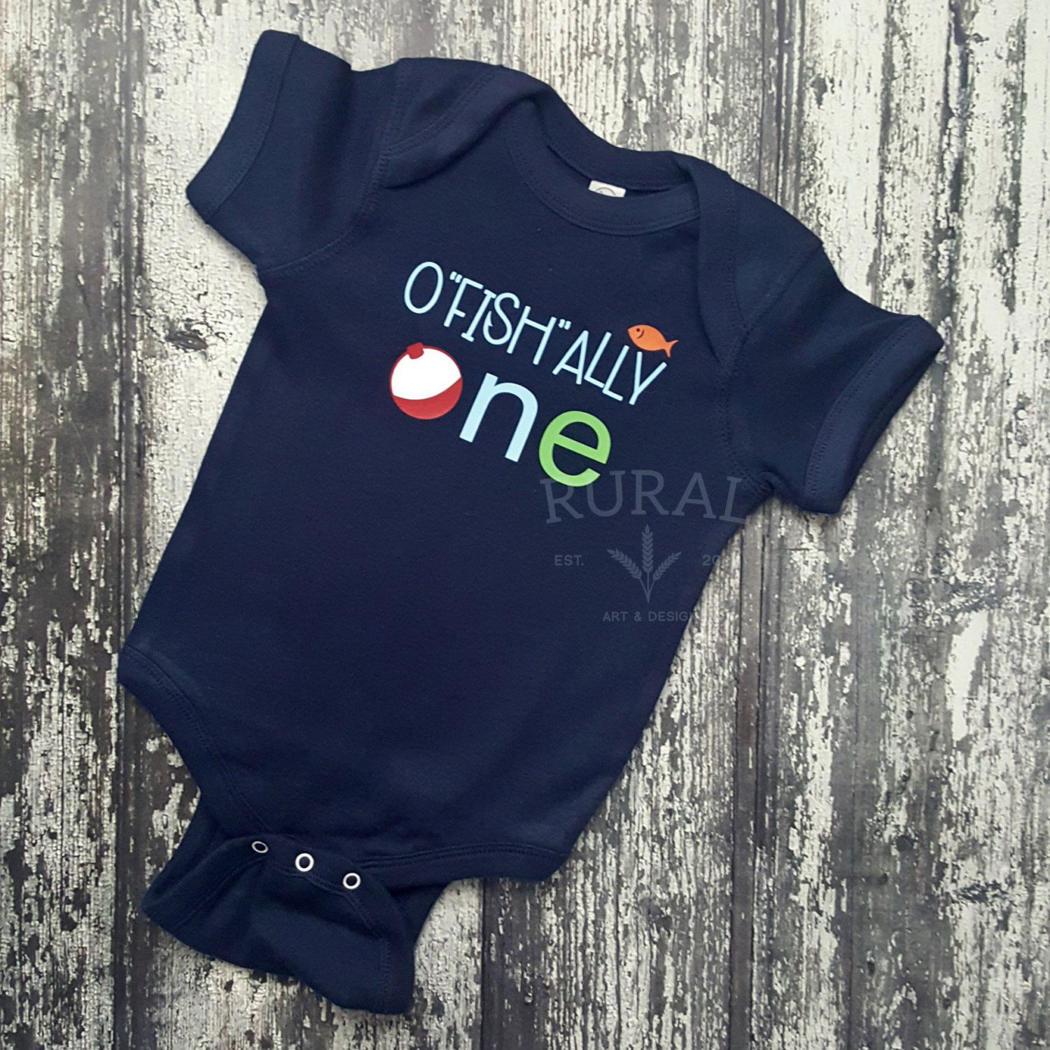 O fish ally one baby bodysuit birthday boys for Baby fishing outfit