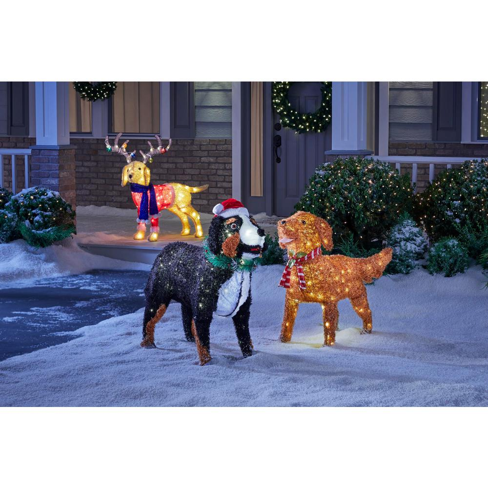 Home Accents Holiday 32 in. Christmas Warm White LED Bernese ...