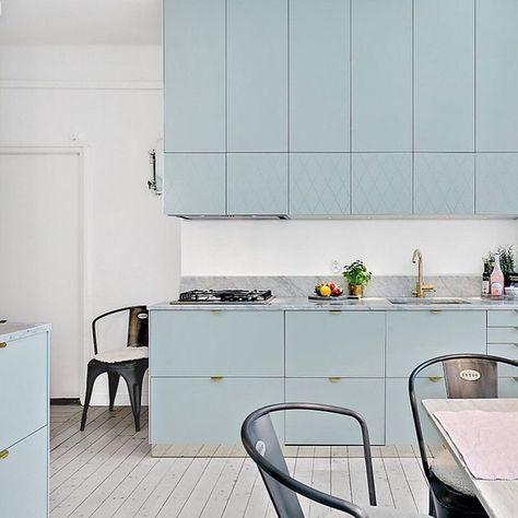 Vert Doux Meuble Jusqu Au Plafond Cuisine Moderne Cuisine Design Moderne Salle De Cuisine