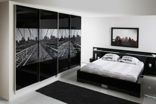 Wunderbar Schwarz Weißes Innendesign   Schlafzimmer