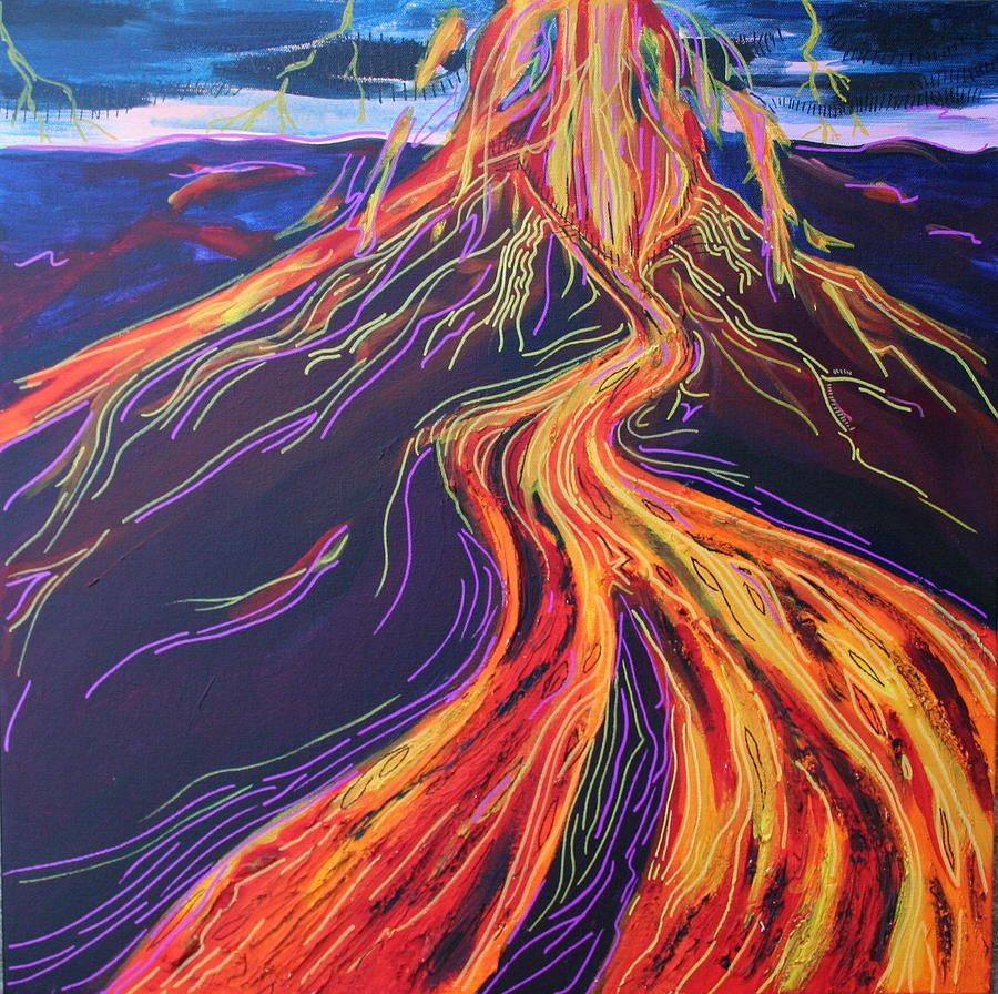Image result for volcano artwork | T O P I C . | Pinterest ...