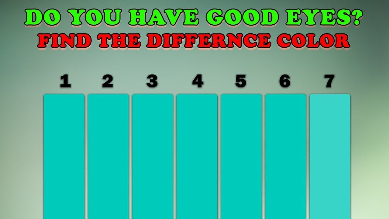 How Good Are Your Eyes Color Test - Optical illusions Eye Test #3 ...