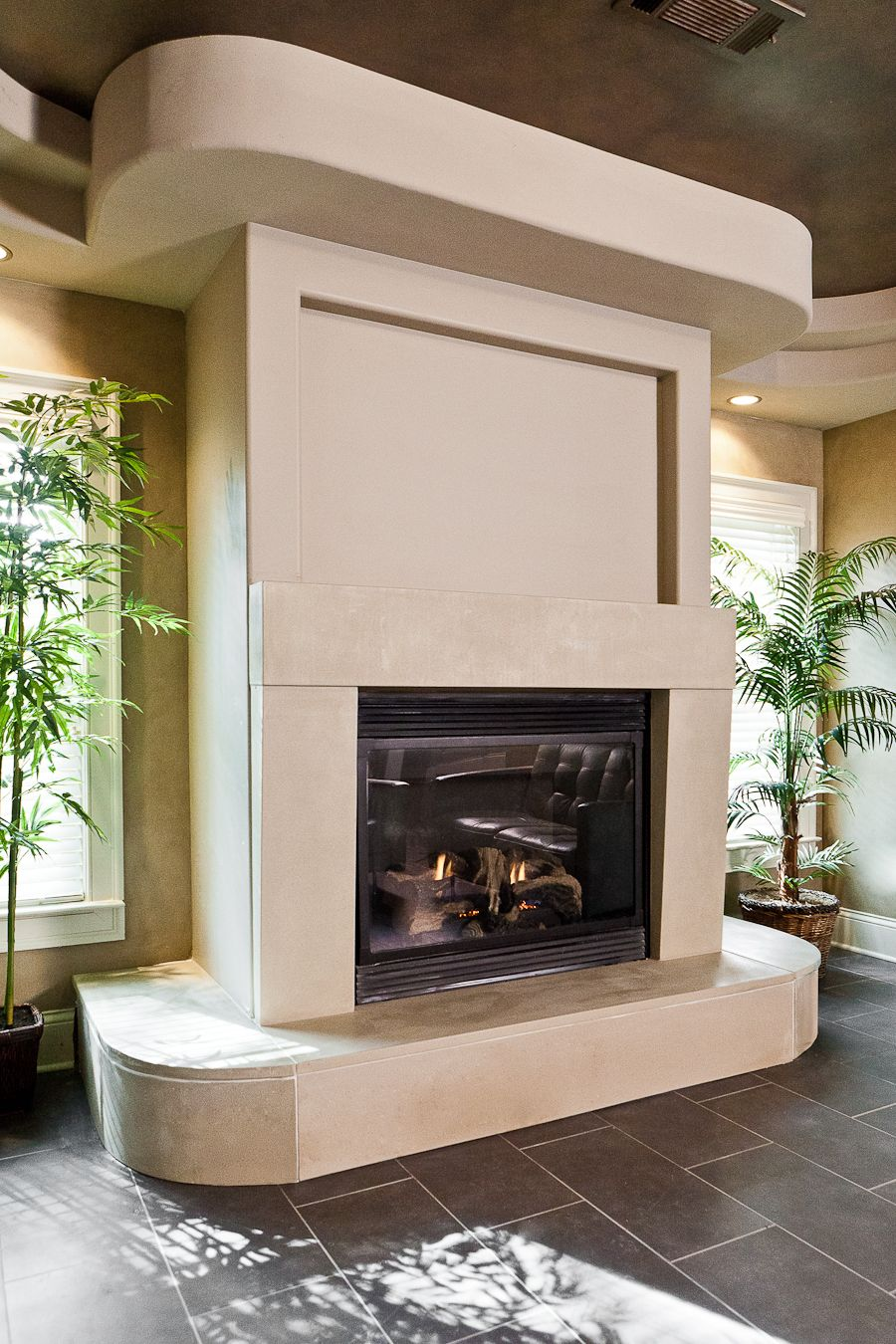 Fireplace Mantels Atlanta Poured Concrete Fireplace Gas Fireplace Insert