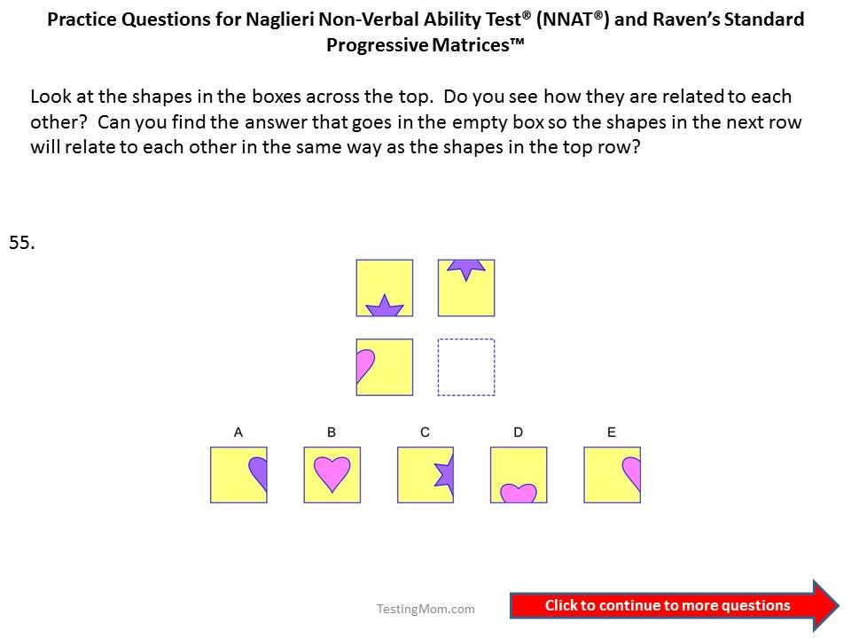 Register Testing Mom Nnat Workbook Cogat Practice