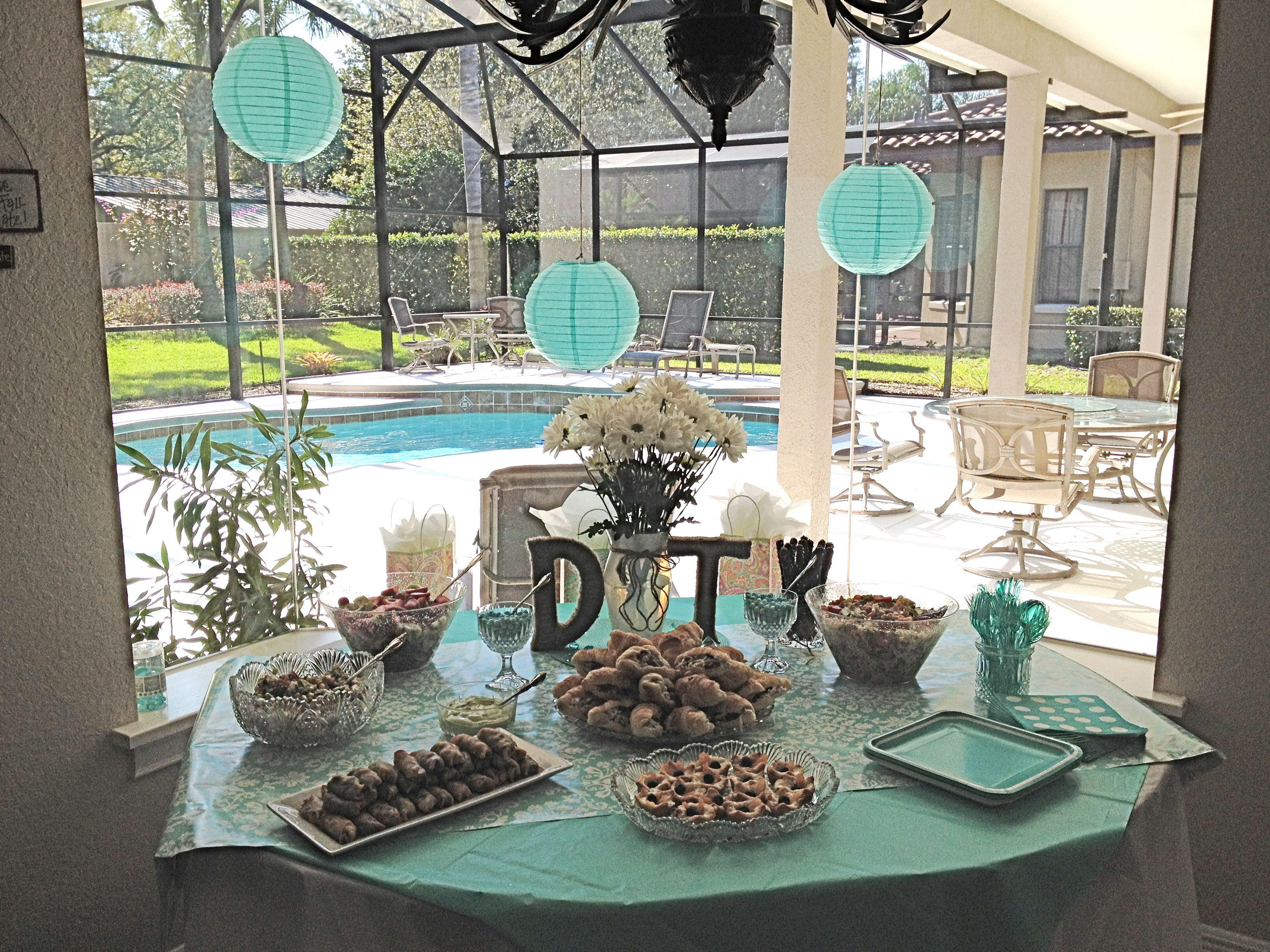 Pinterest Bridal Shower: Bridal Shower Table Set Up. Pinterest In Action! Made