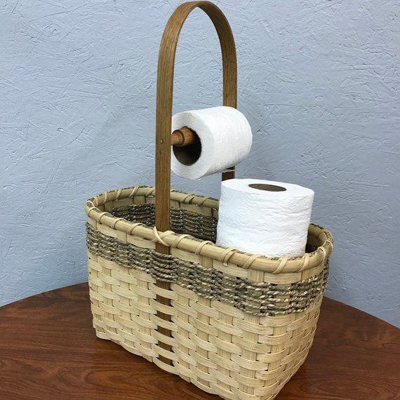 Toilet Paper Tote Basket Etsy Toilet Paper Basket Toilet