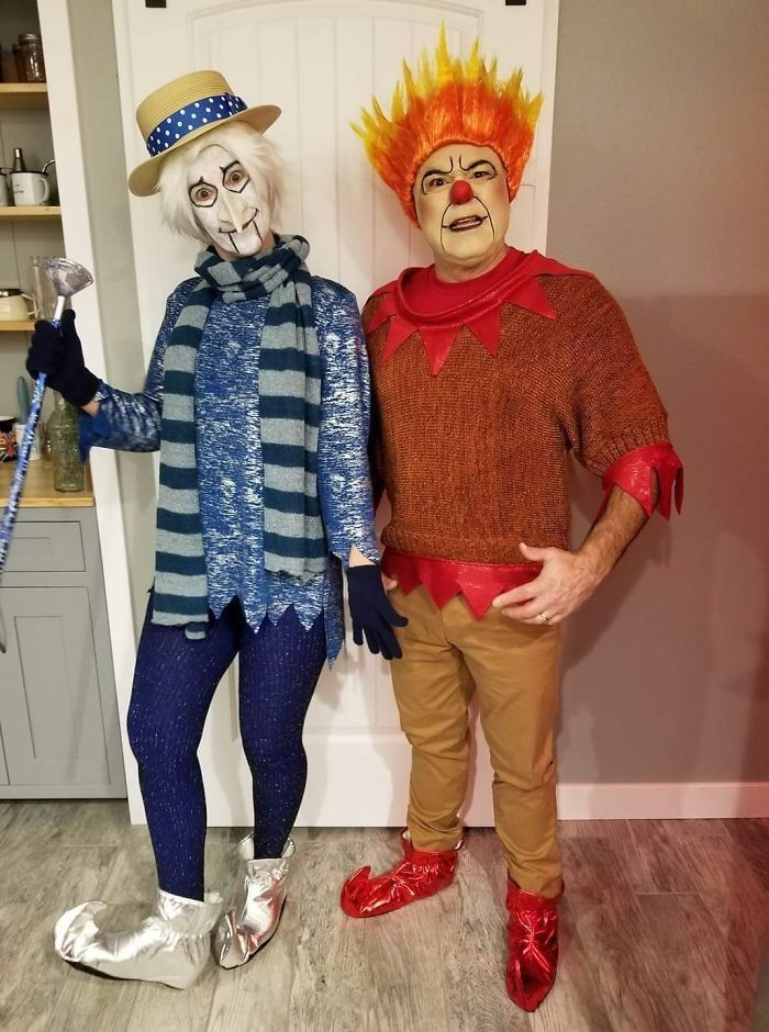 Heat miser and snow miser Cool halloween costumes